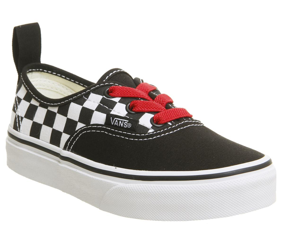 vans authentic black and red