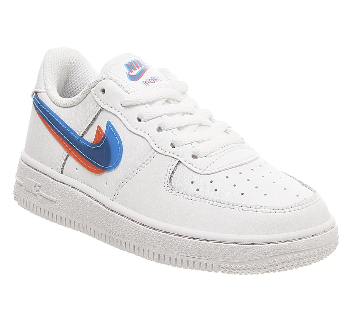Nike Air Force 1 Ps Trainers White Blue