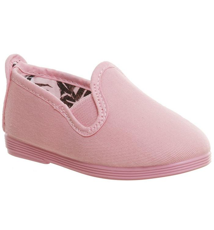 Flossy Flossy Plimsole BABY PINK MONO