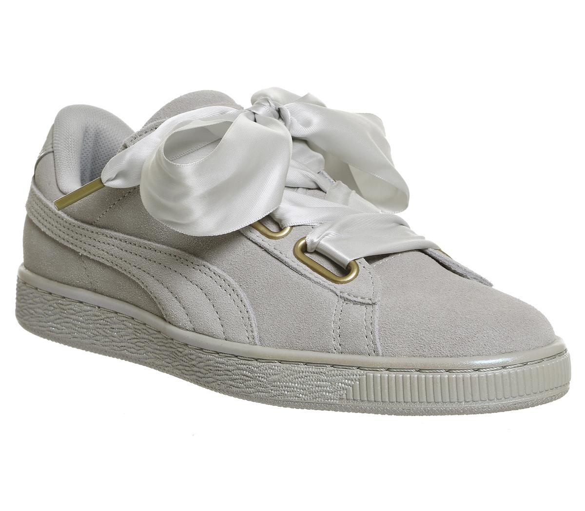 Puma Suede Heart Junior Youth Suede Trainers Colour Size UK 3-7