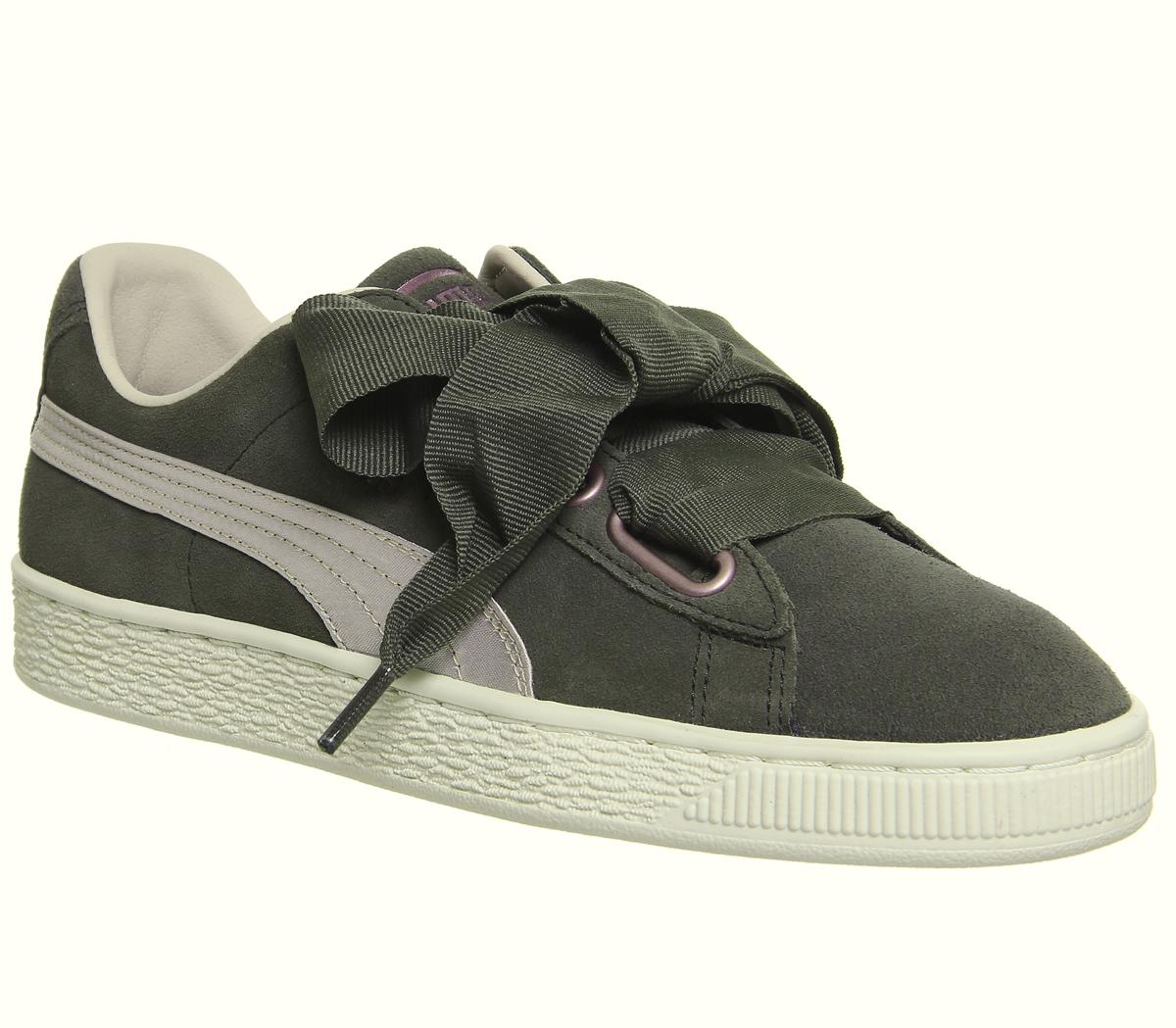 Suede Heart Trainers