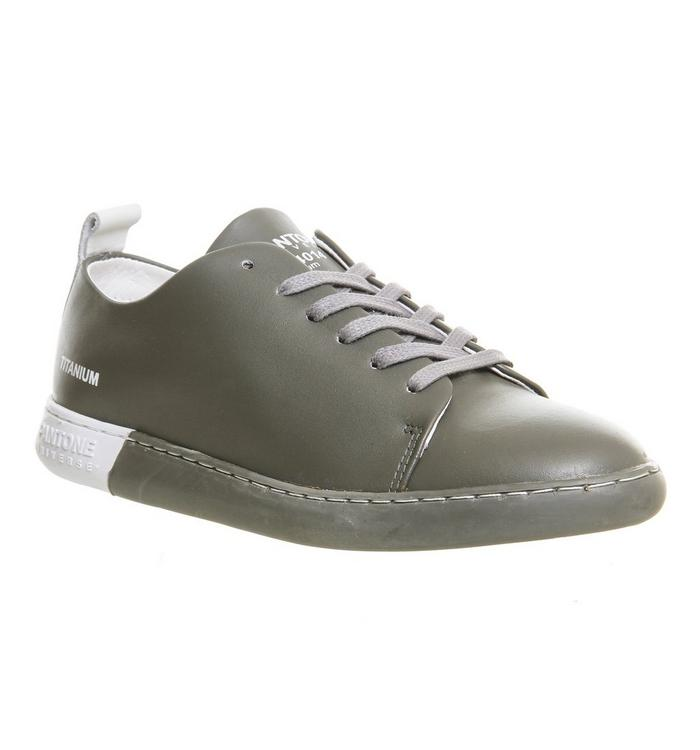 Pantone Pantone Nyc Sneaker TITANIUM LEATHER