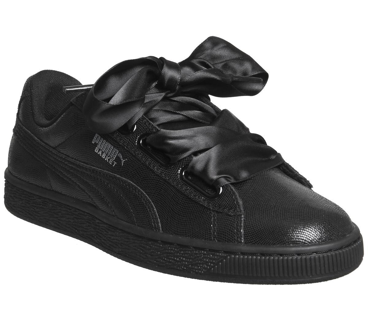 puma black ribbon shoes - 55% OFF - ser
