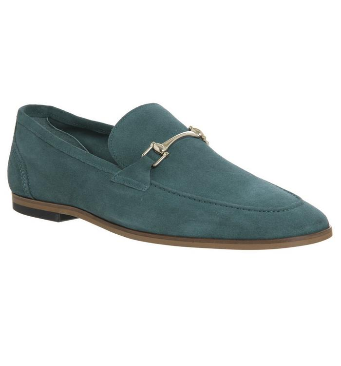 Ask the Missus Ask the Missus  Eugenie Snaffle Loafer TEAL SUEDE