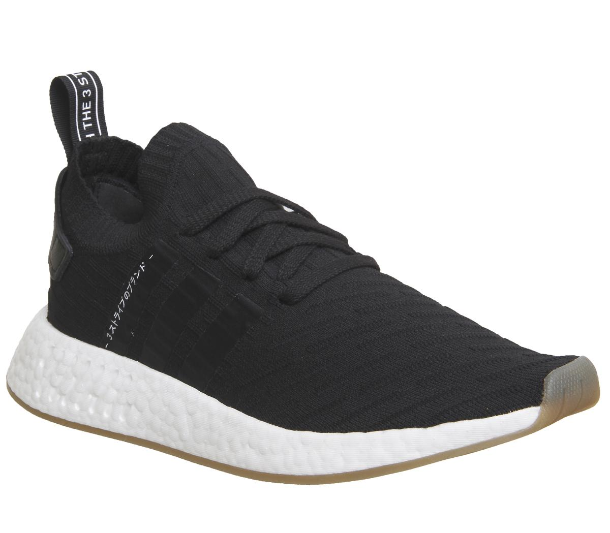 Adidas Nmd R2 Pk Trainers Black White Unisex Sports