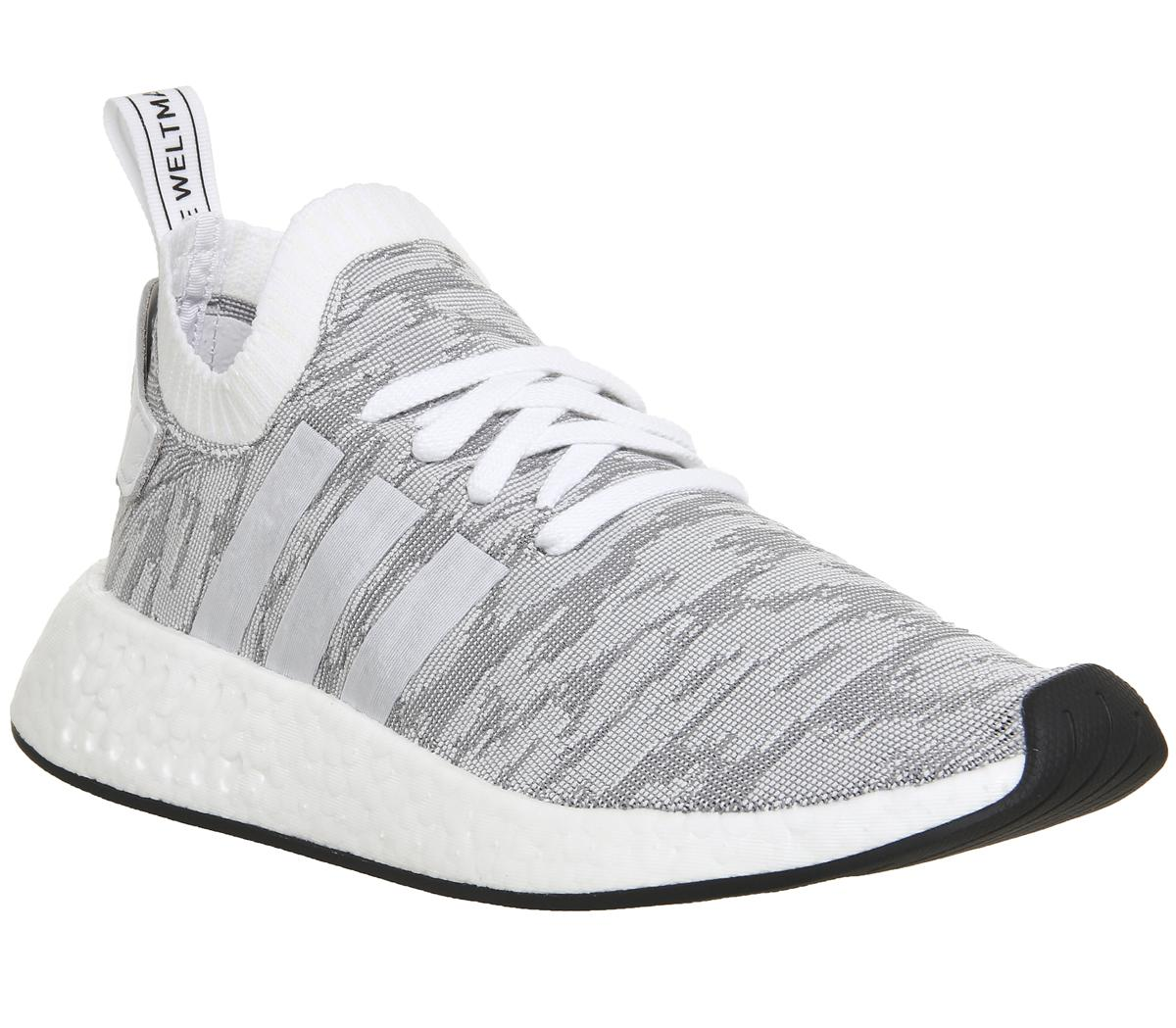 Adidas Nmd R2 Pk White Black Red His Trainers