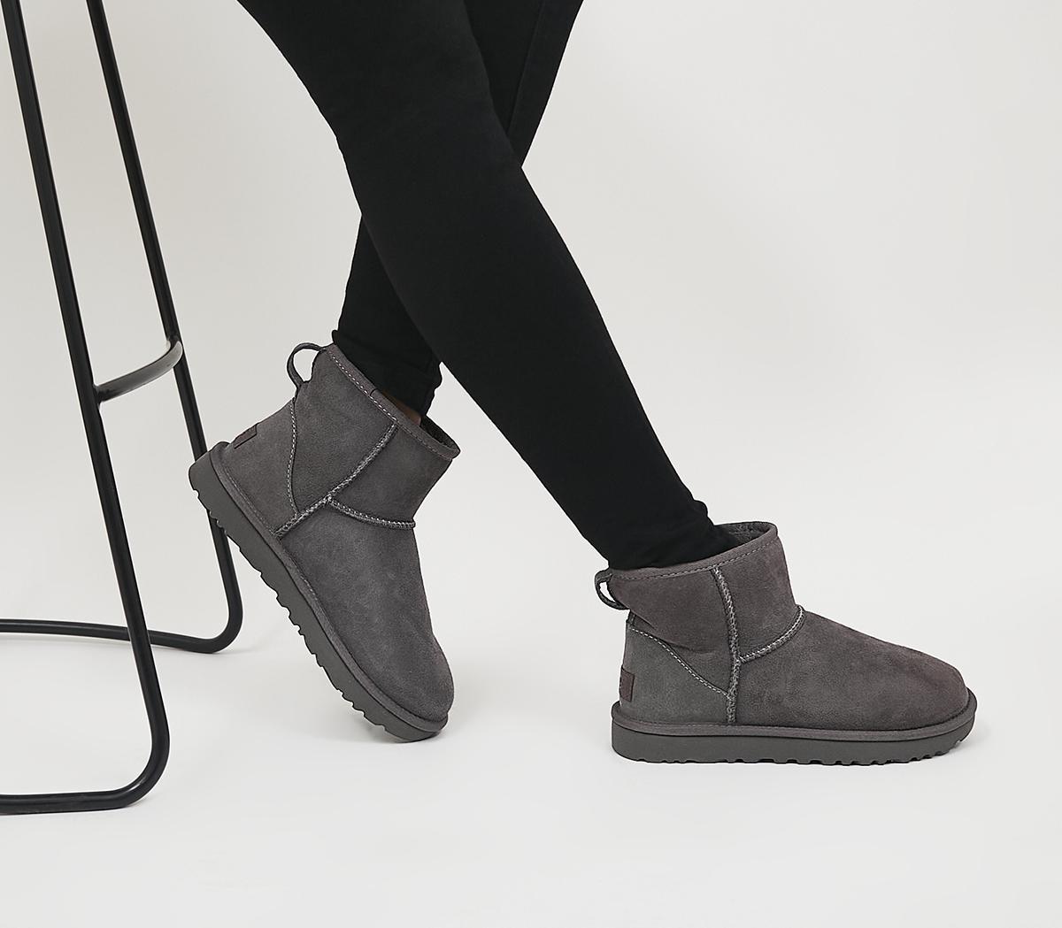 UGG Classic Mini II Boots Grey Suede