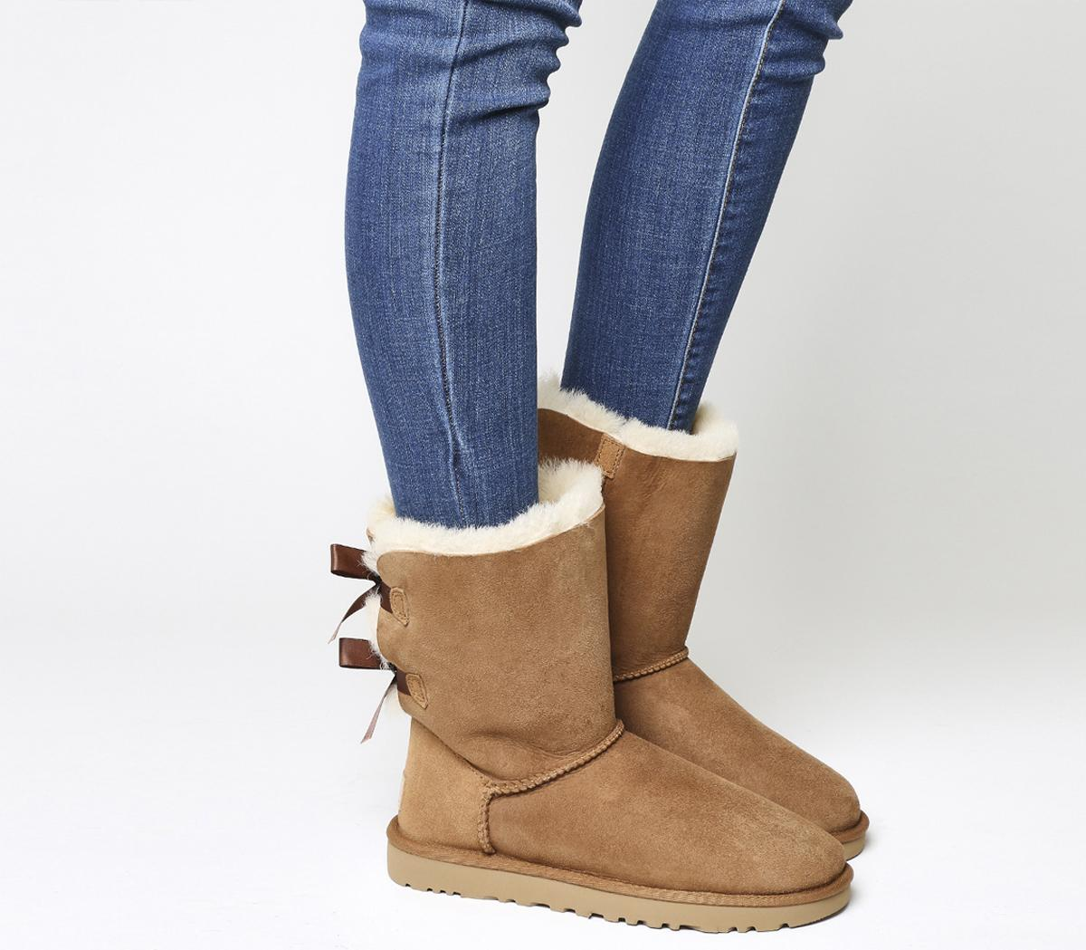 UGG Bailey Bow II Calf Boots Chestnut