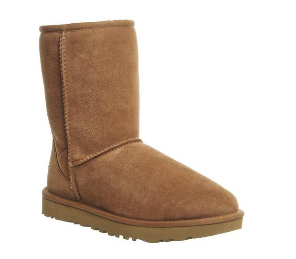 UGG Classic Short II Boots Chestnut Suede - Ankle Boots wiEqsyt