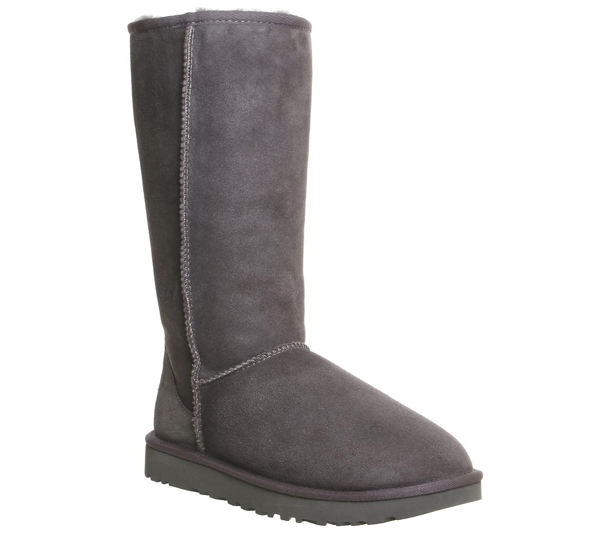 UGG Classic Tall II Boots Grey Suede