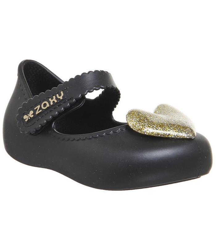 Zaxy Zaxy Baby Heart BLACK GOLD GLITTER