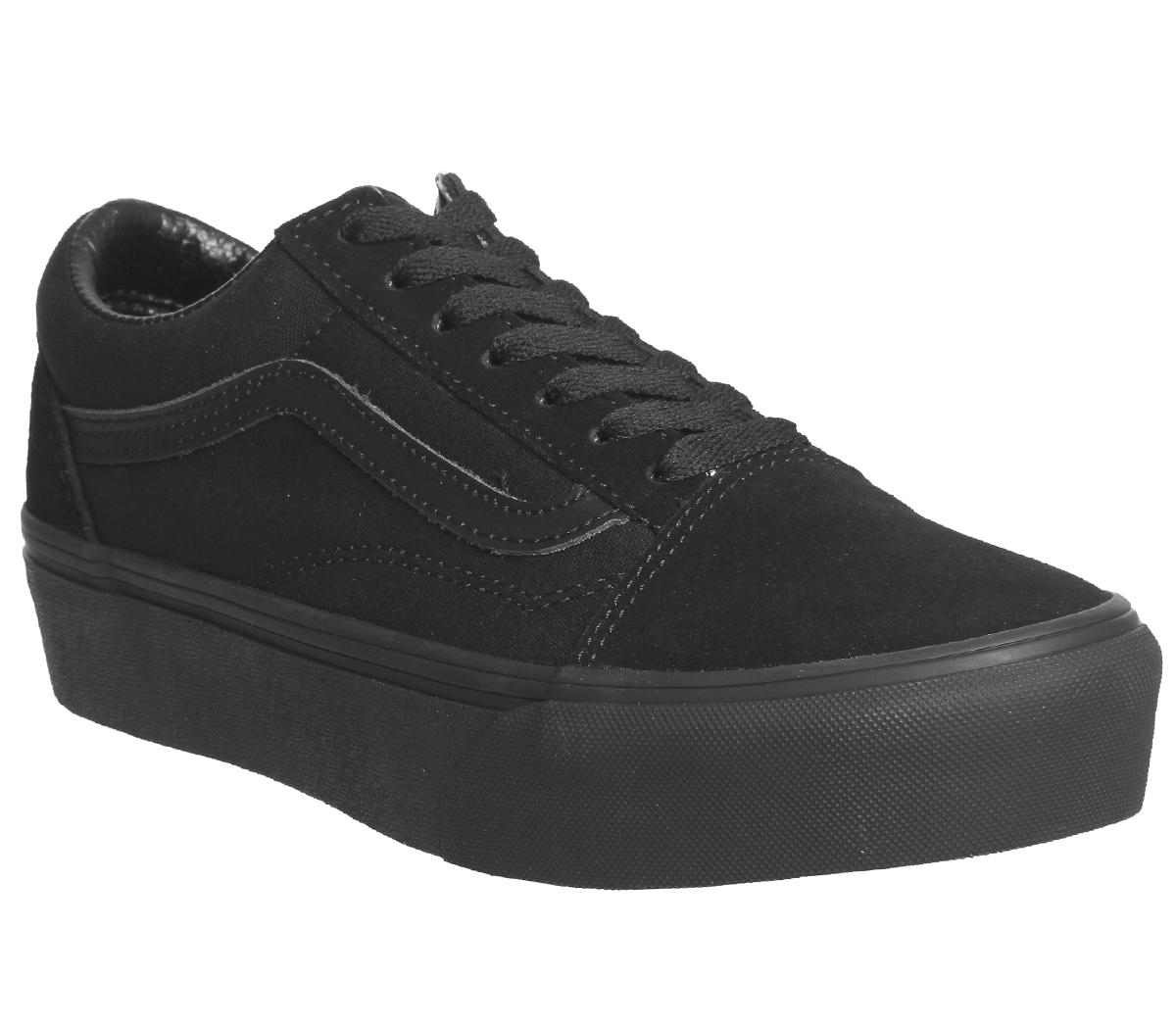 Vans Old Skool Platform Womens Trainers in Black Black