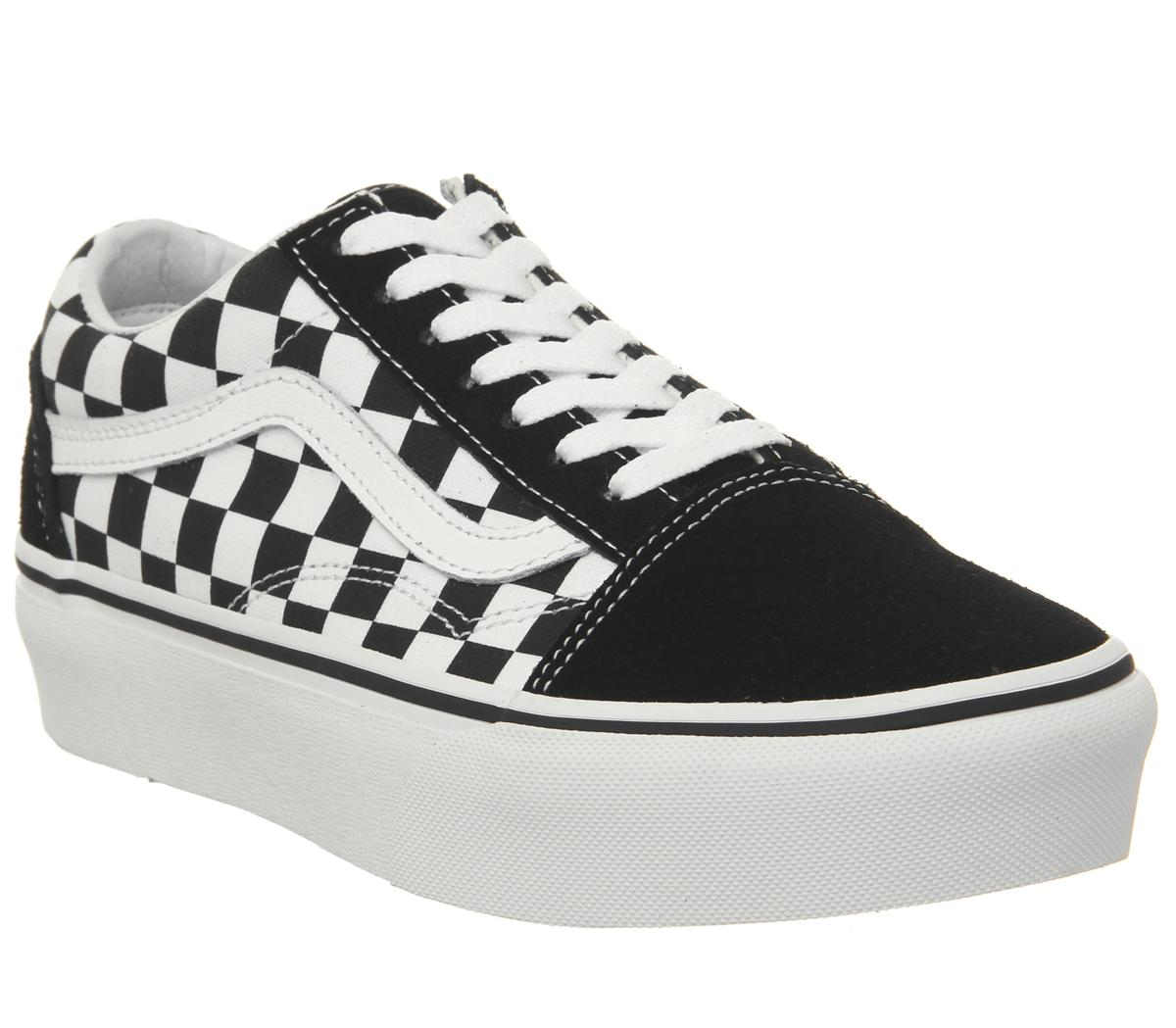 2019 OFF White X Vans Old Skool Black White Checkerboard