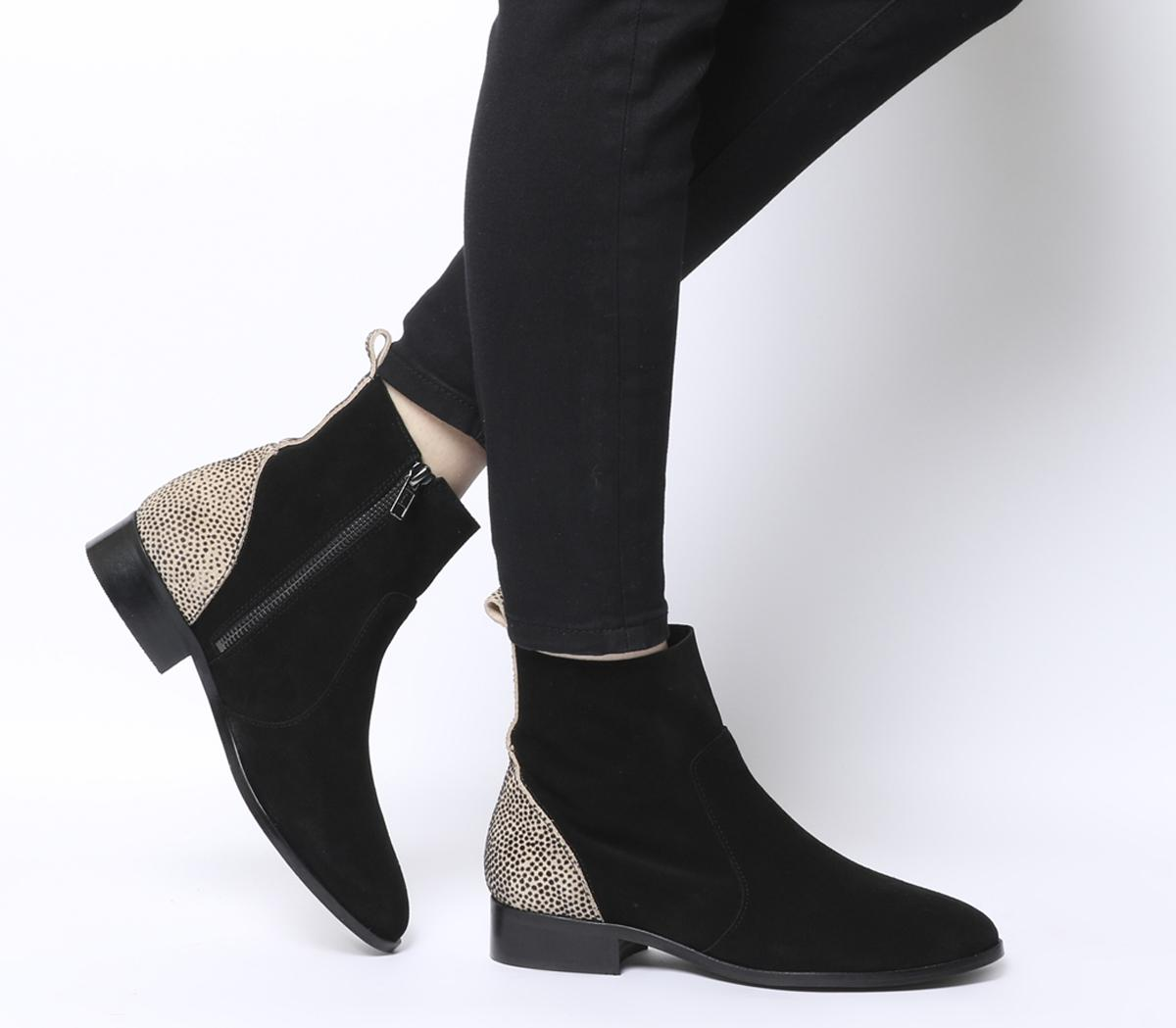 Office Ashleigh Flat Ankle Boots Black