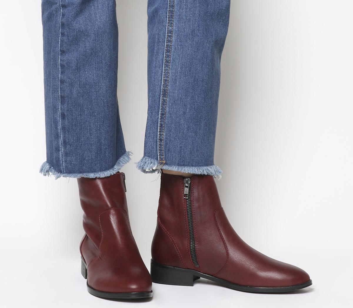 Office Ashleigh Flat Ankle Boots New