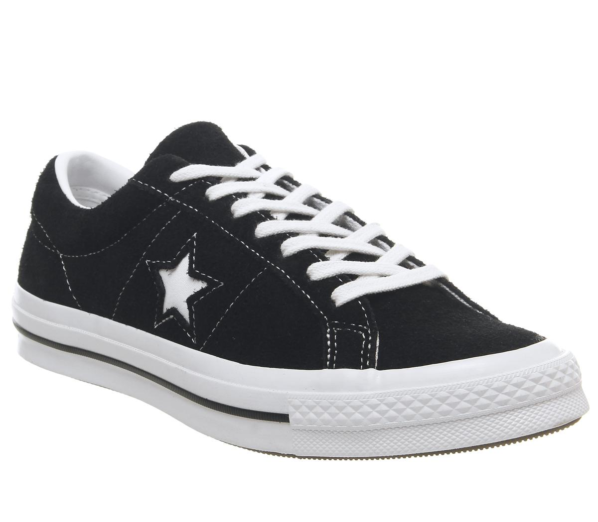 Converse One Star Trainers Black Black