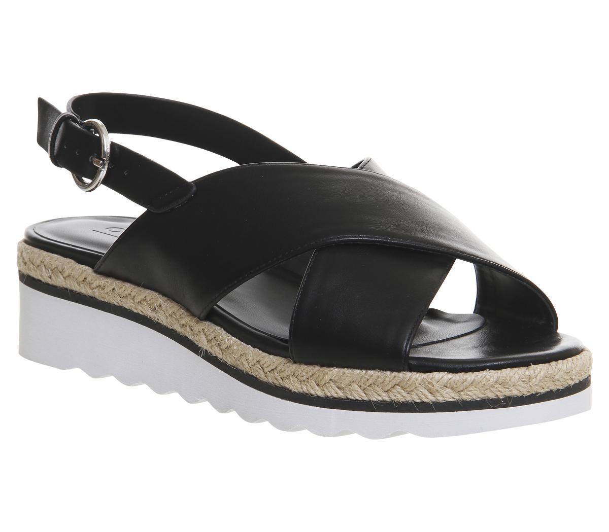 Saturn Cross Strap Espadrille Sandals