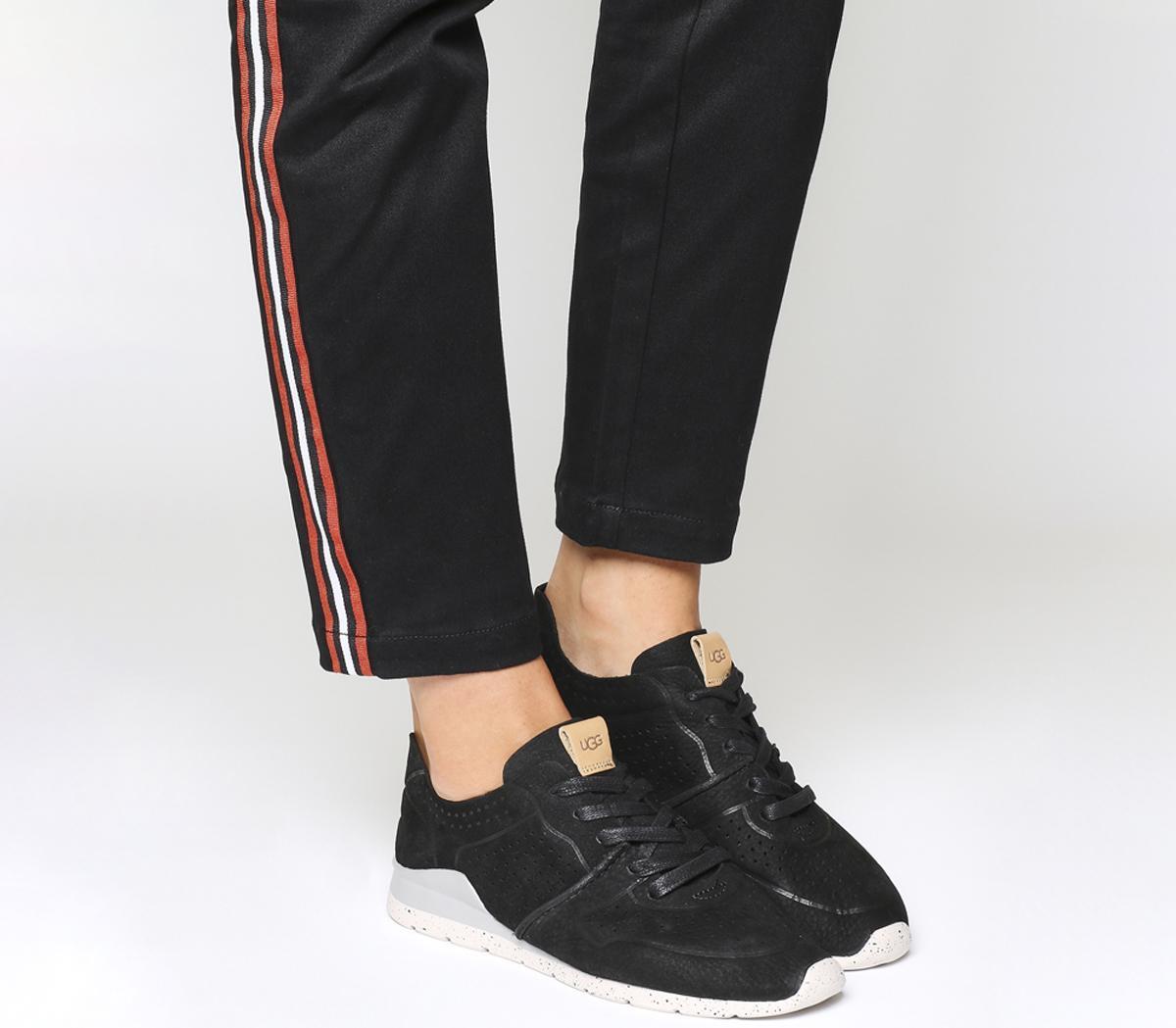 UGG Tye Sneakers Black Nubuck - Flats