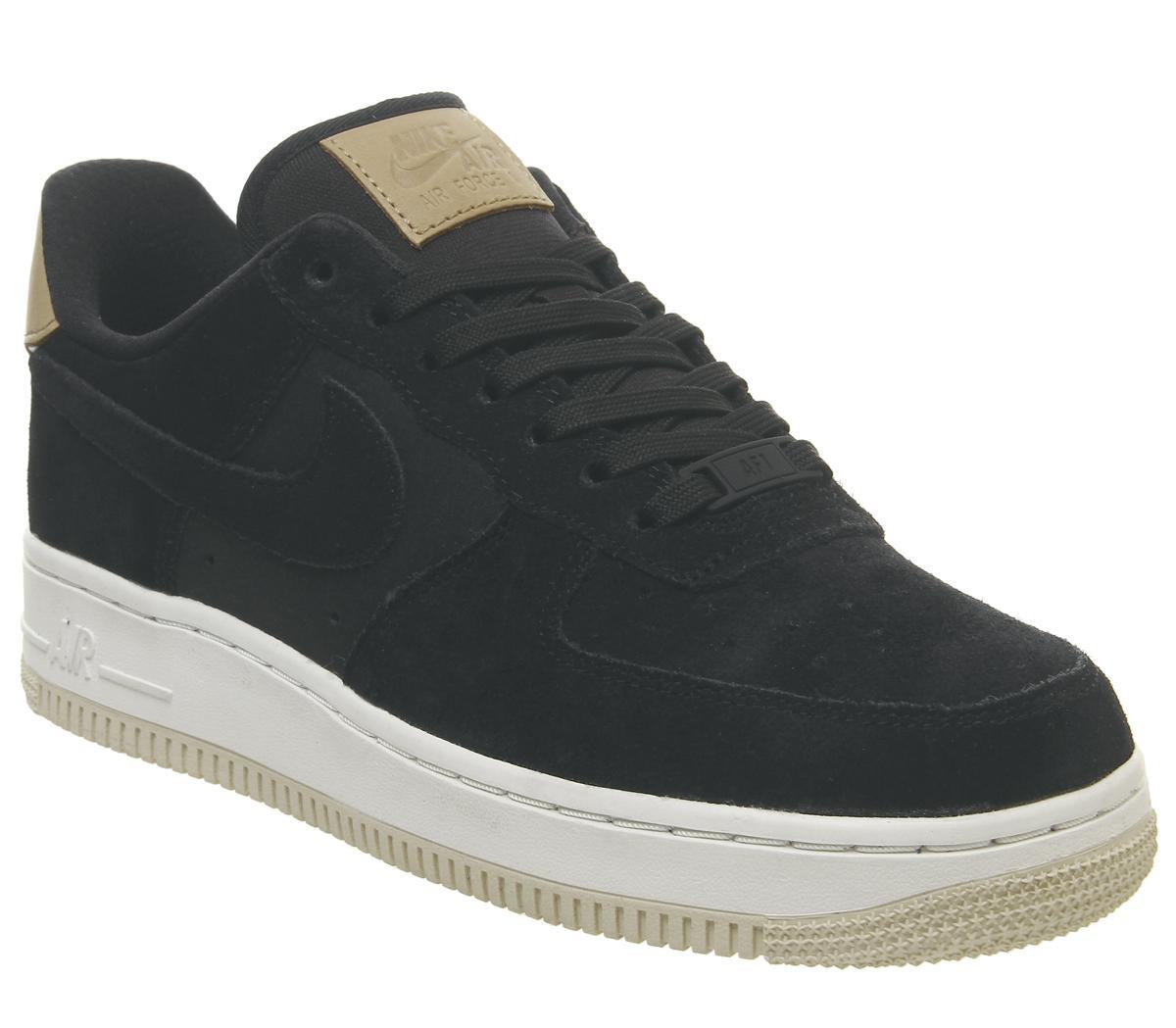 busca lo último mejor selección de 2019 atarse en Nike Air Force 1 07 Trainers Black Black Summit White Light Cream ...