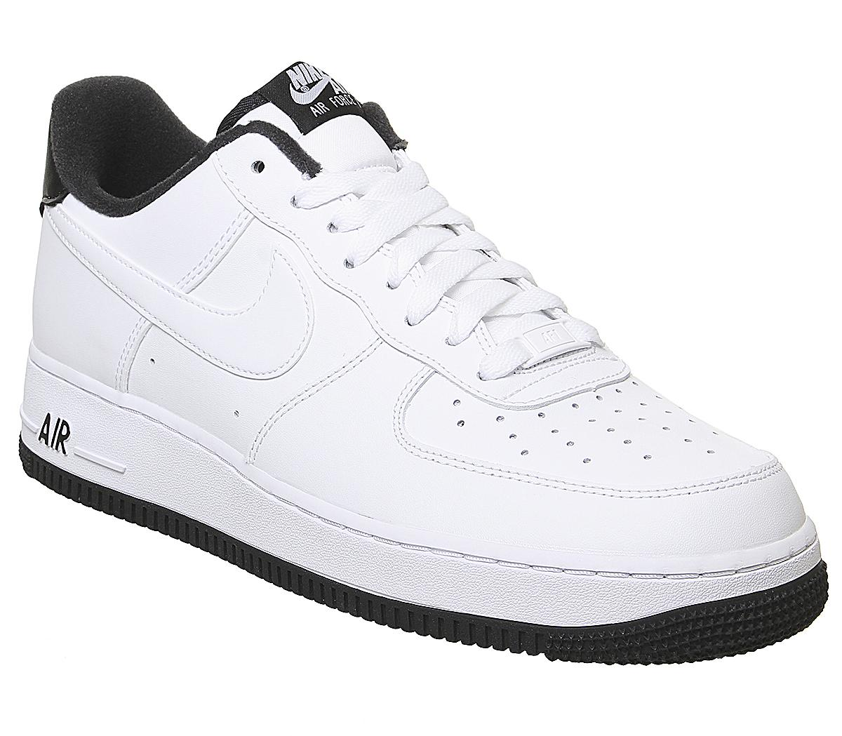 nike air force 1 07 white and black