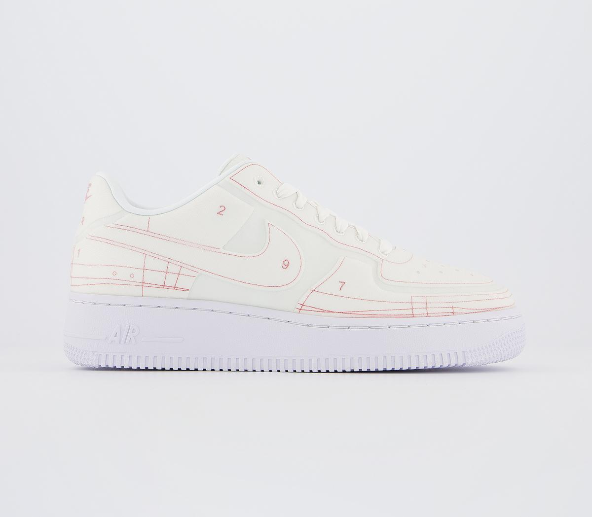 Feudo Eficiente tocino  Nike Air Force 1 07 Trainers Summit White University Red Lx F - Hers  trainers