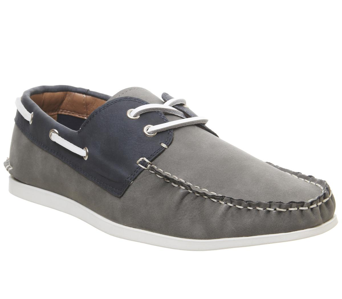 Office Floats Your Boat Shoes Grey Navy
