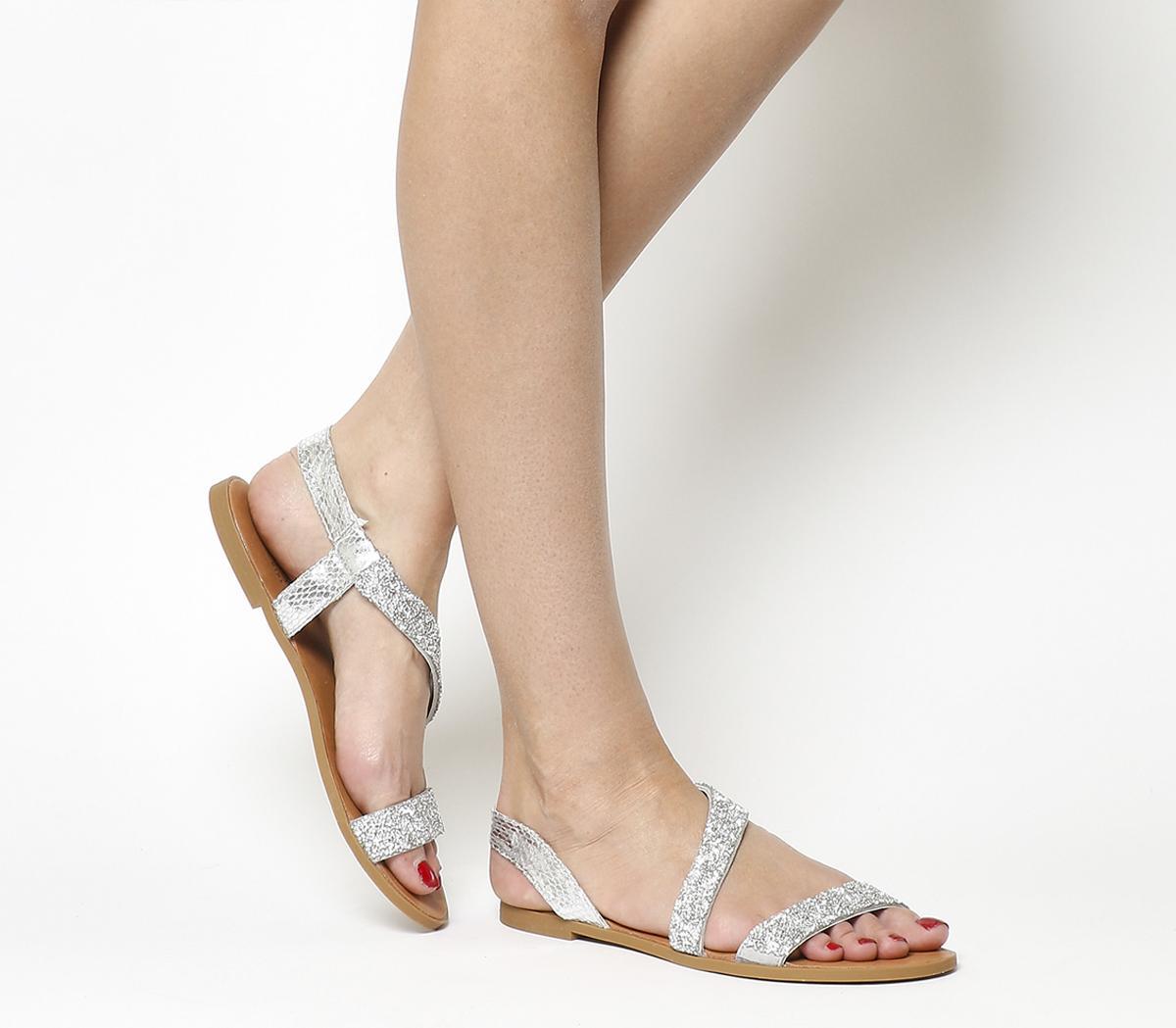 Sparkle Embellished Sling Back Sandals