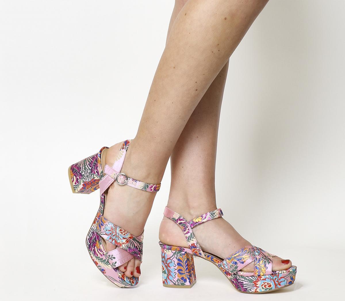 Office Mountain Platform Sandals Pink
