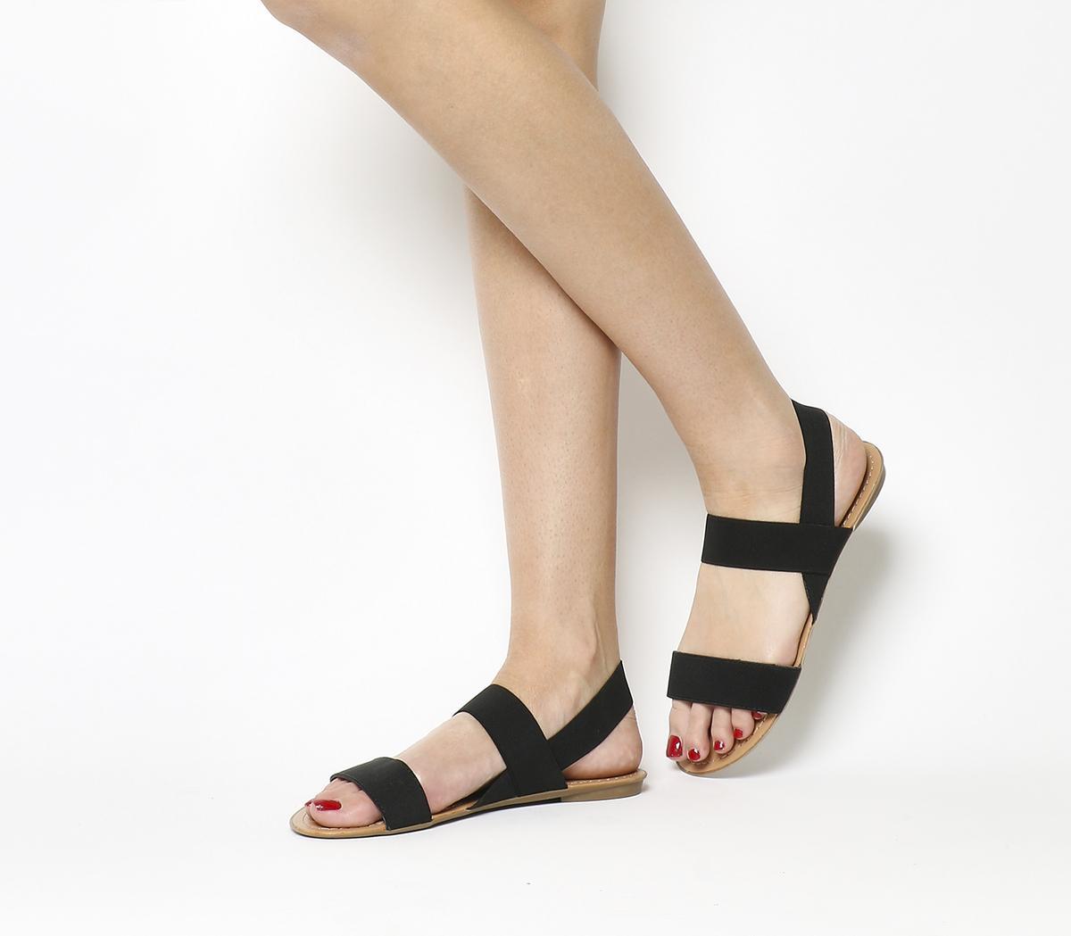 Office Swift Elastic Sandals Black