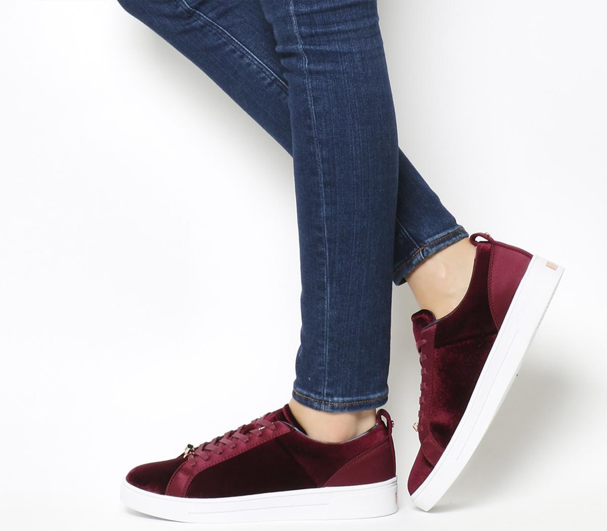 Ted Baker Kulei Sneakers Burgundy