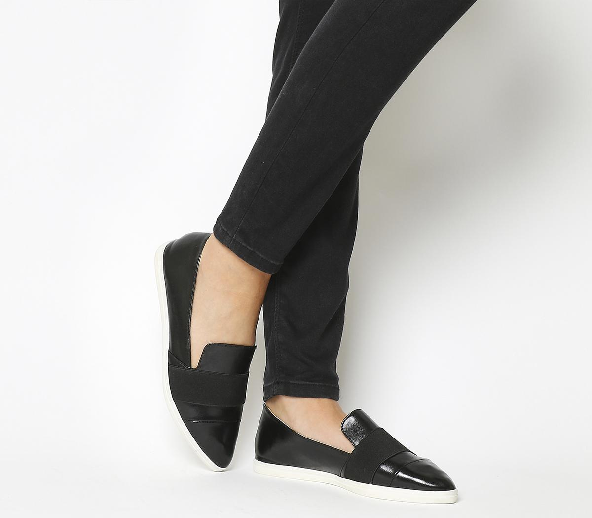 Office Fig Pointed Flat Pumps Black - Flats