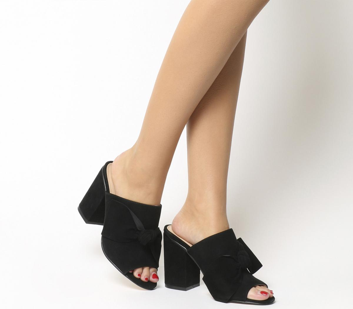 Heather Bow Mules