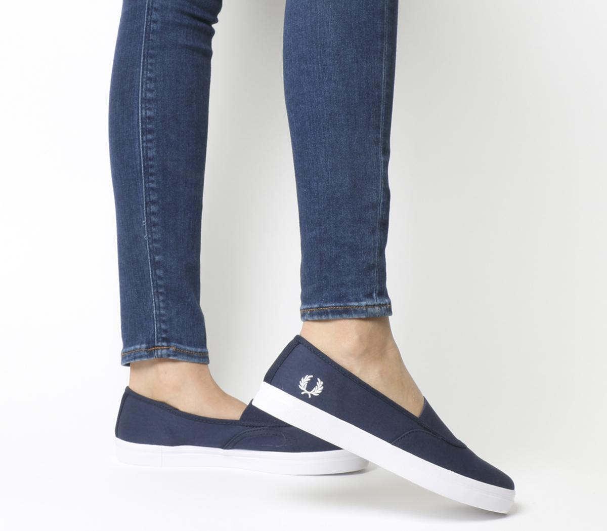 Fred Perry Aubyn Slip Ons Carbon Blue