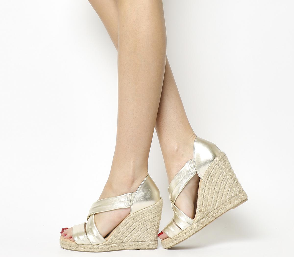 Holiday Cross Front Espadrille Wedges