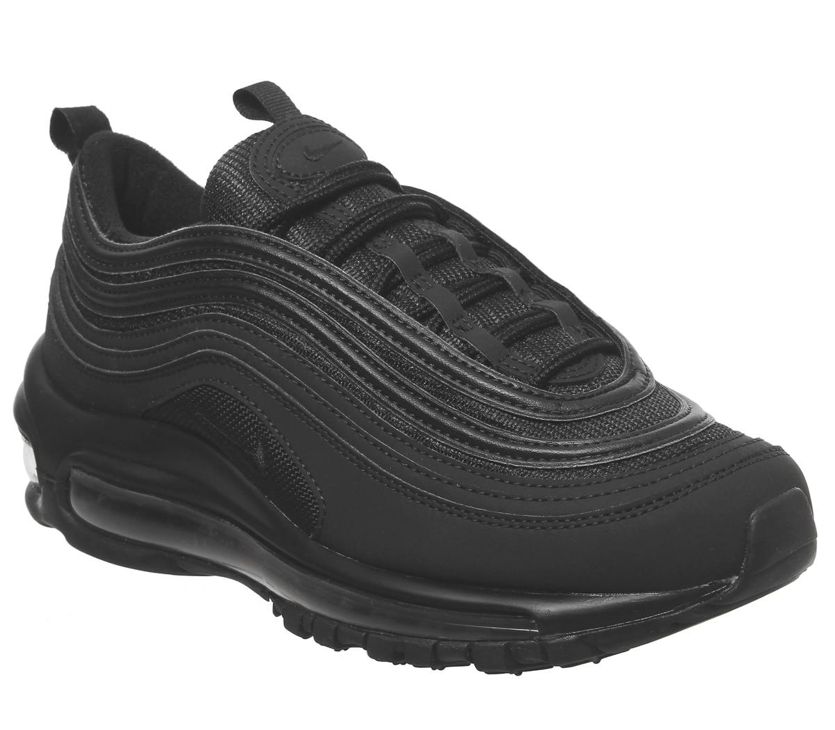 Nike Air Max 97 Gs Trainers Black Mono