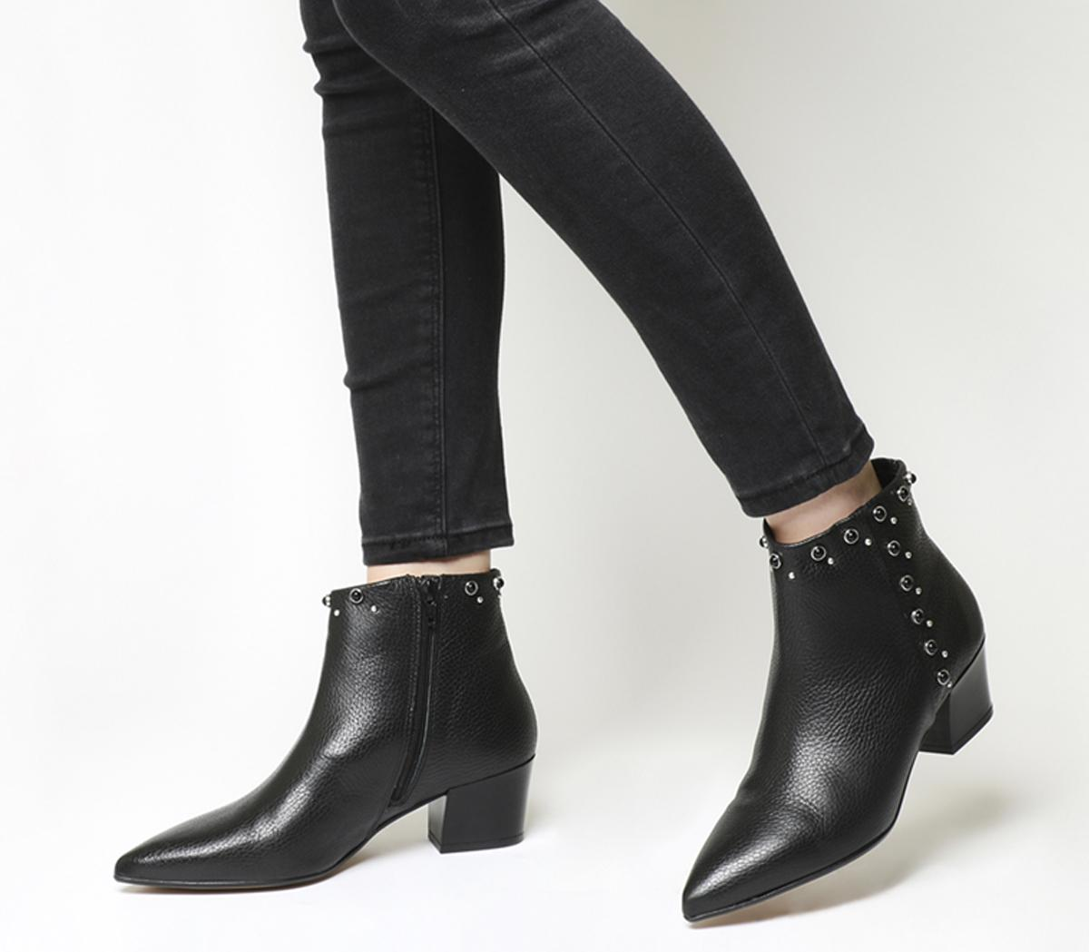 Astrid Pointed Block Heel Boots