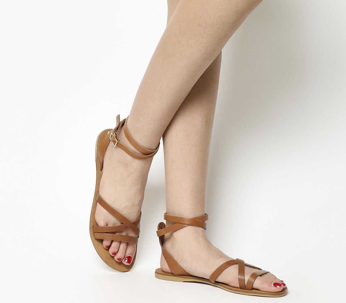 Stephan Strappy Ankle Sandals
