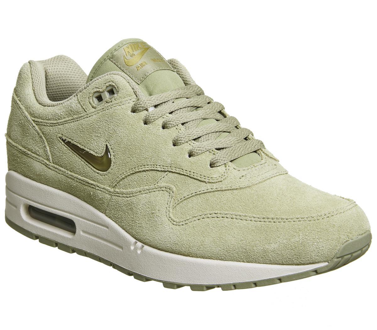 Rabatt Nike Air Max 1 Jewel Suede Trainers Neutral Olive www