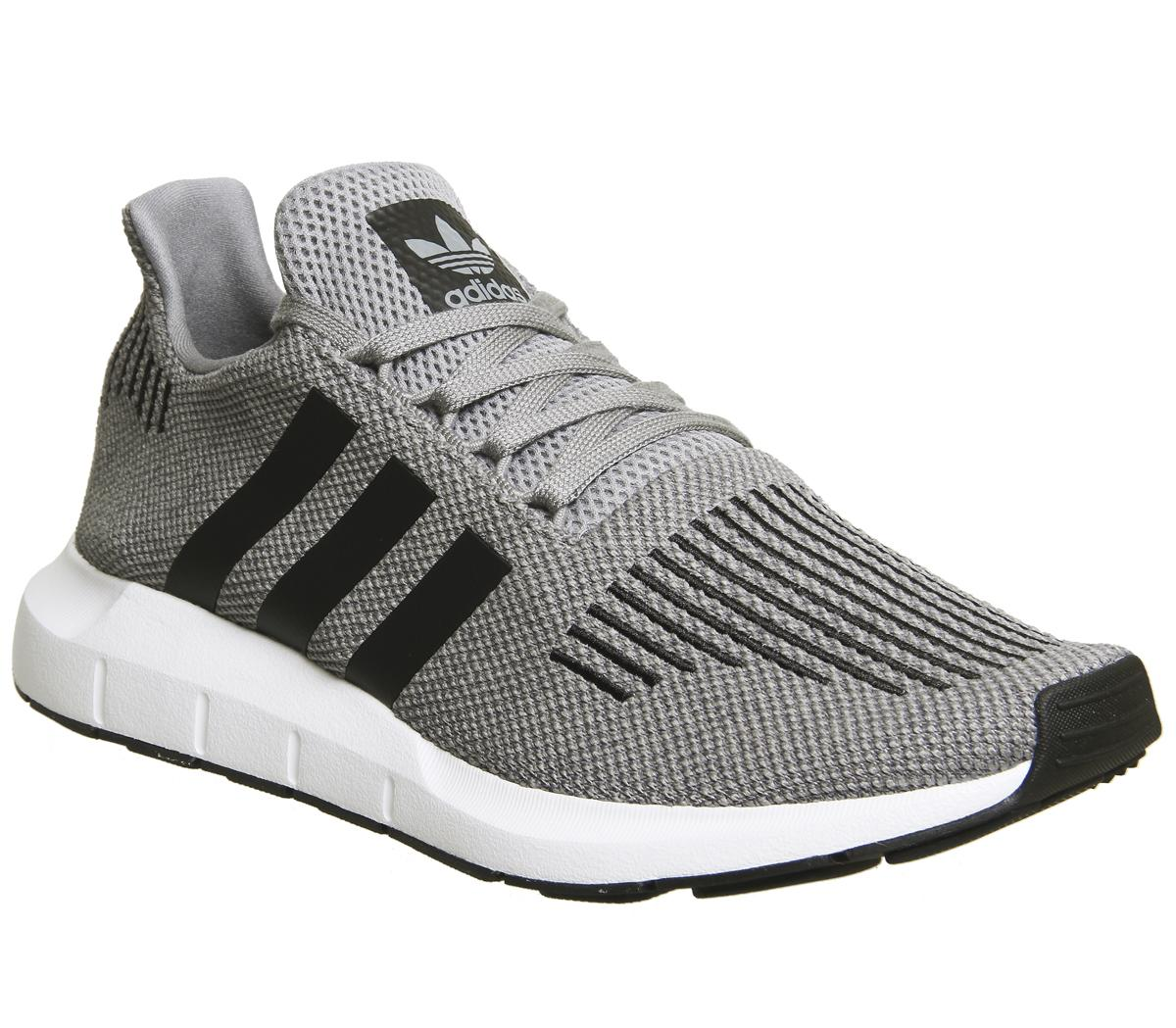 adidas grey swift run trainers
