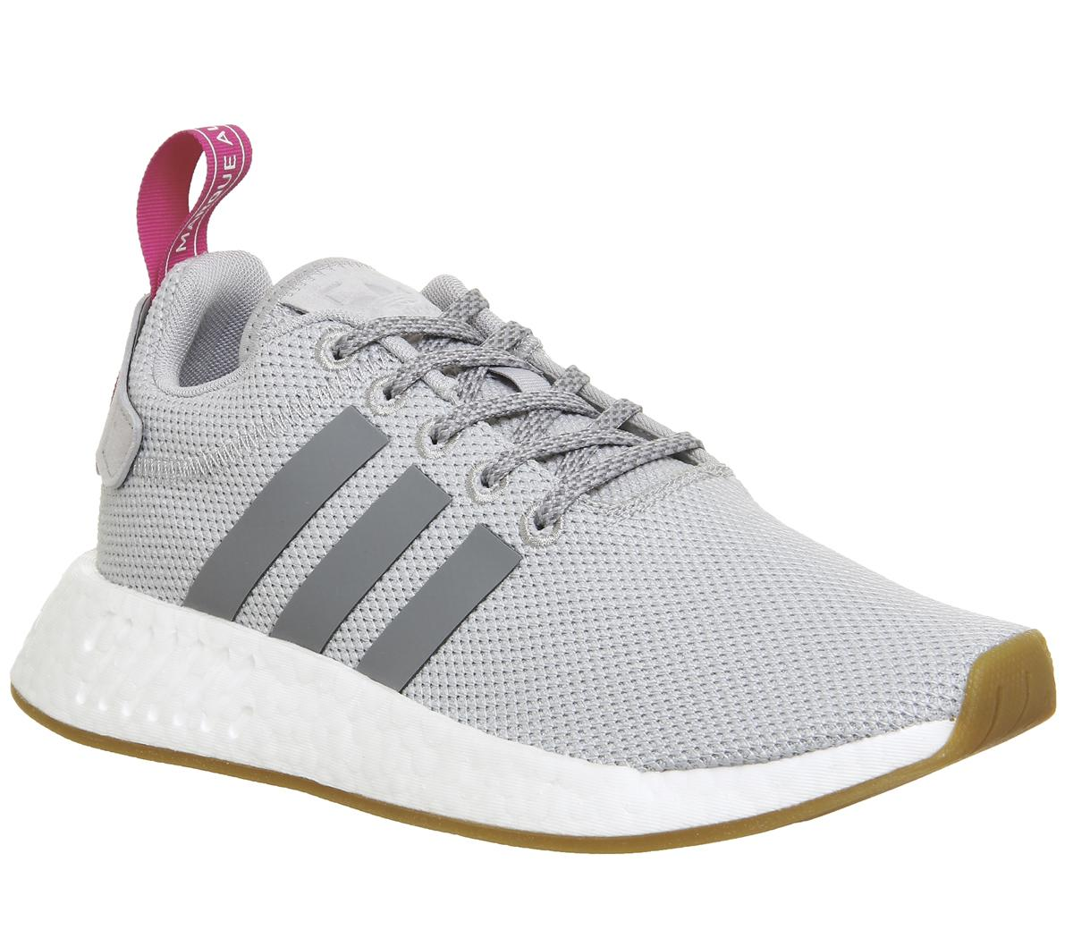 adidas Nmd R2 Trainers Grey Two Pink
