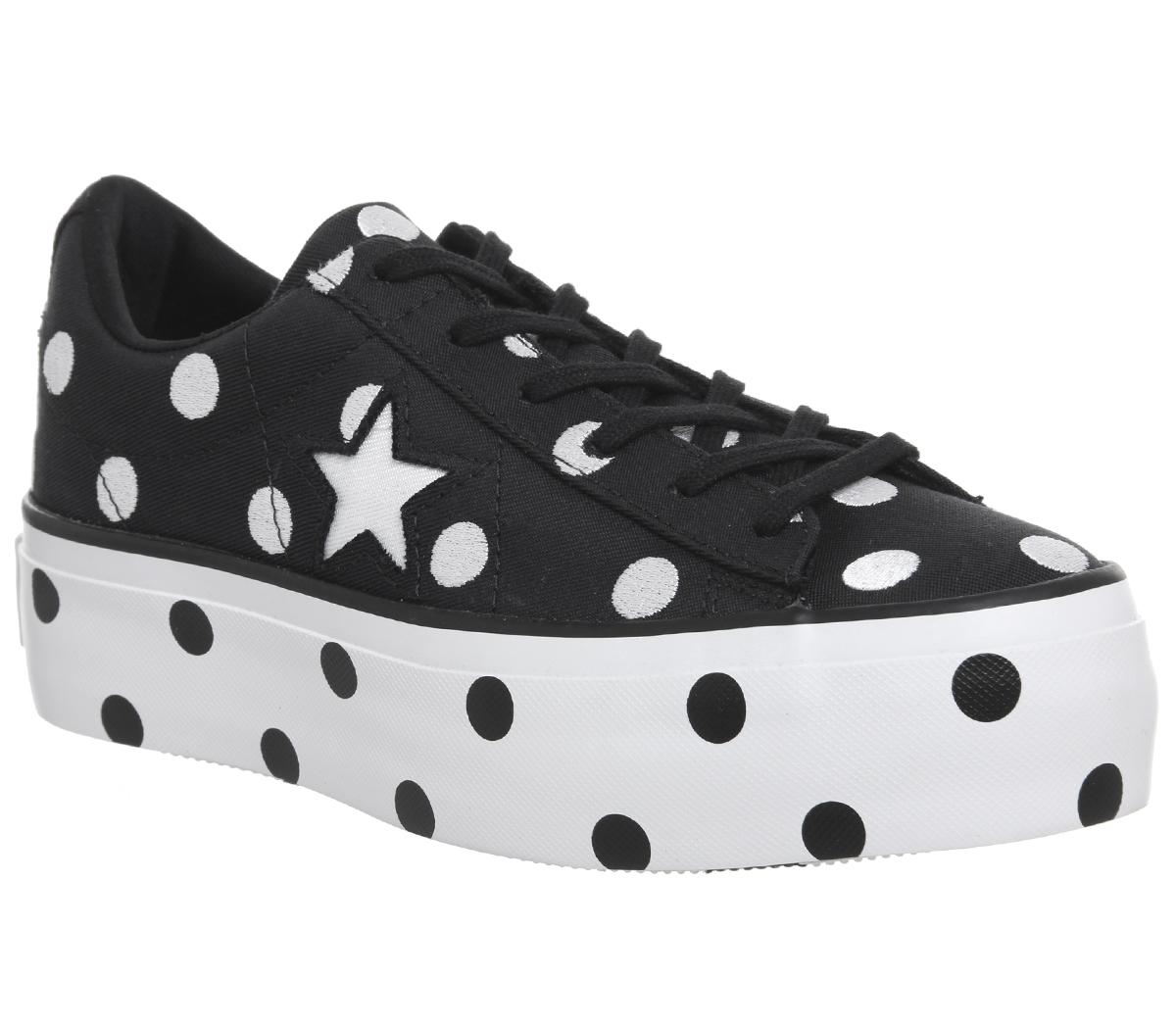 converse one star polka dot platform
