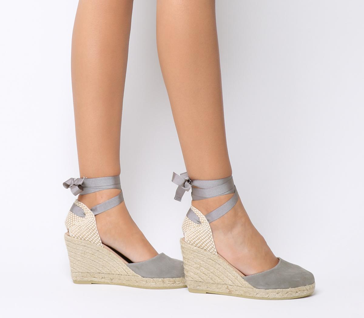 Ankle Wrap Espadrille Wedges