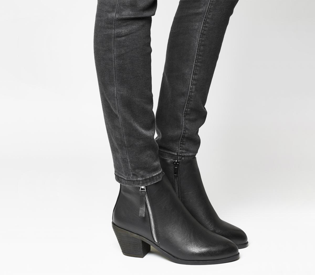 Anita Side Zip Western Mid Boots