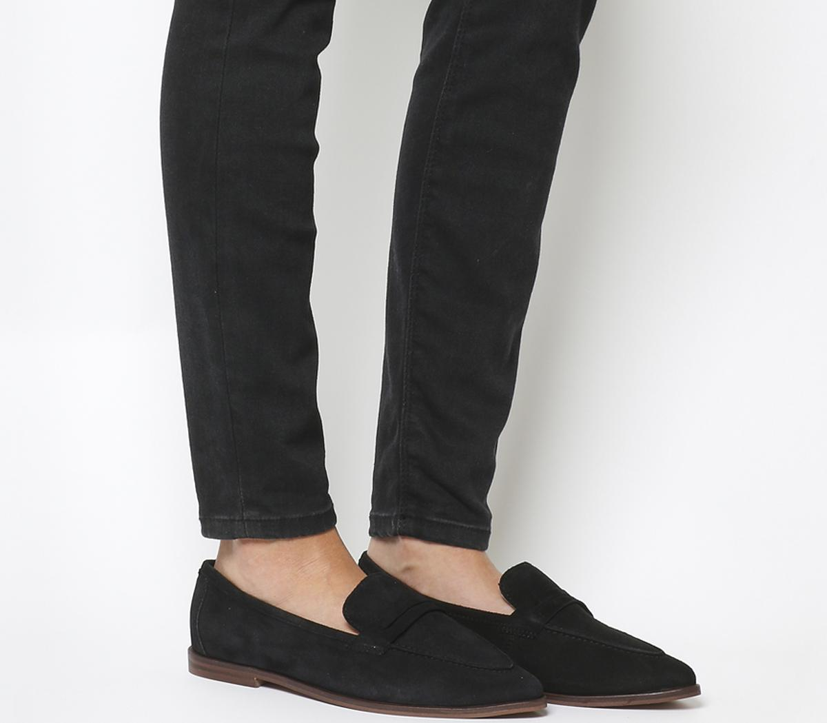 Office Falcon Point Loafers Black Suede
