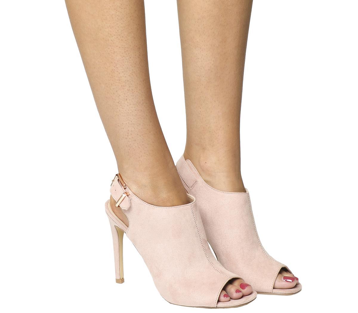 open back peep toe shoe boots