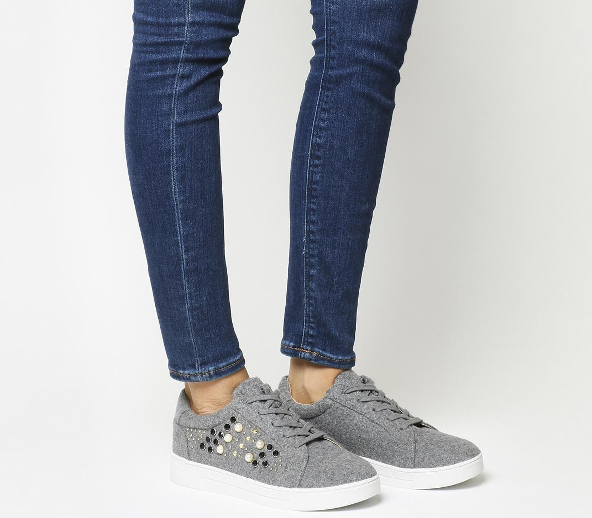 Cookie Embellished Lace Up Trainers