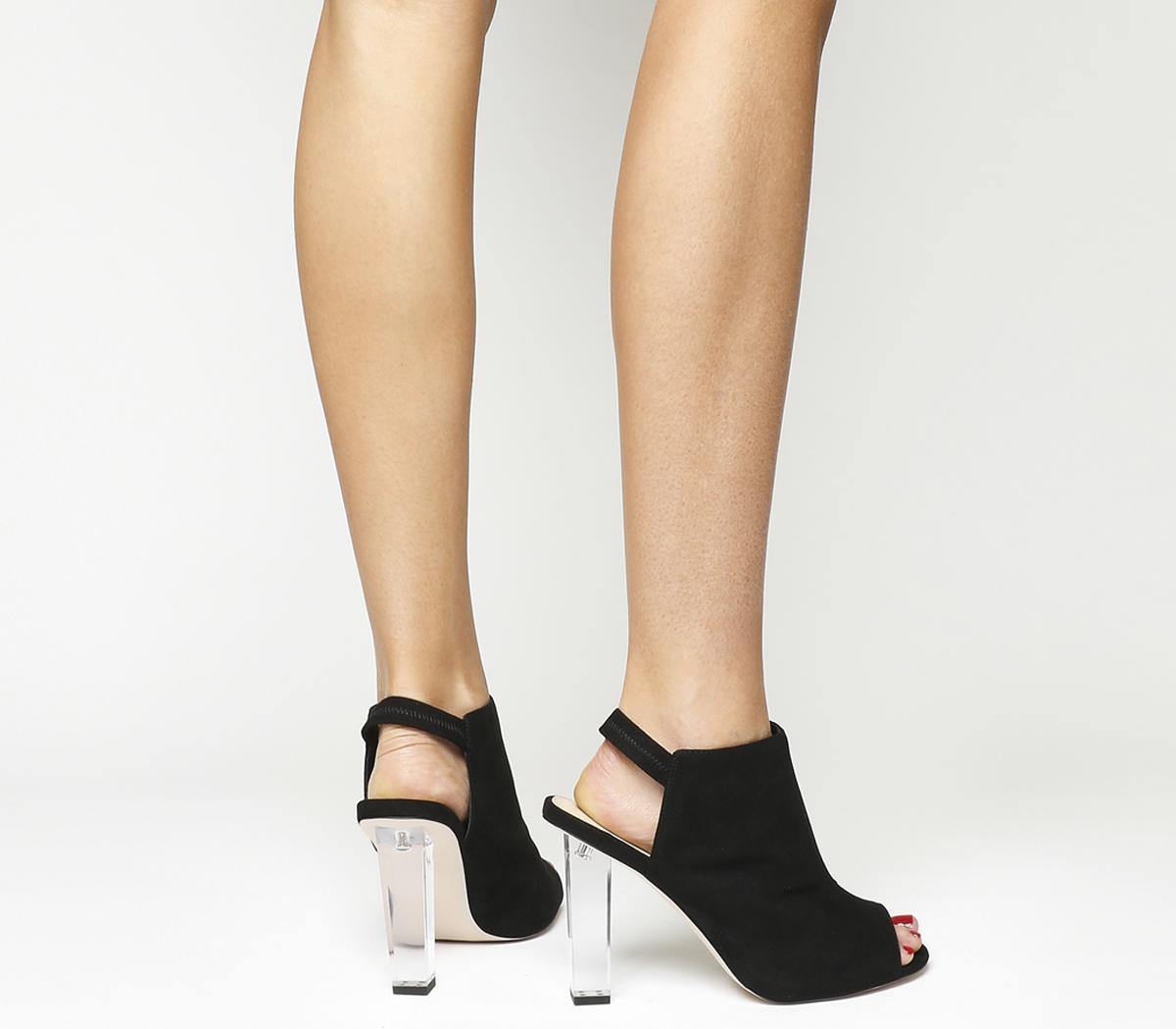 Haughty Clear Heel Shoe Boots