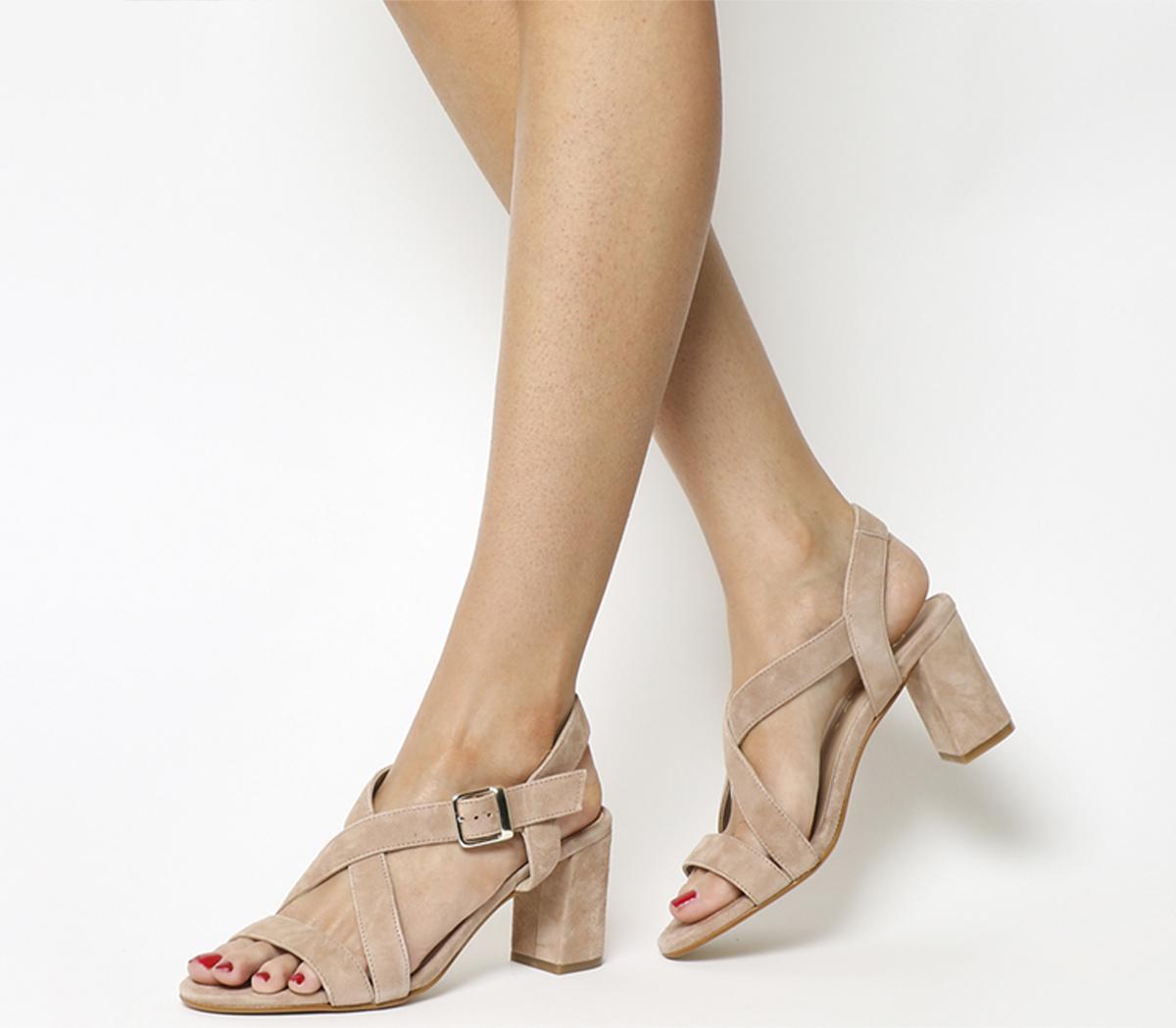 Marshmallow Block Heel Sandals
