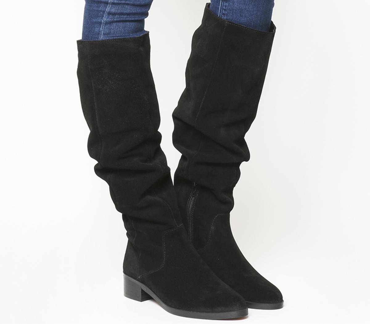 Kove Flat Slouch Suede Boots