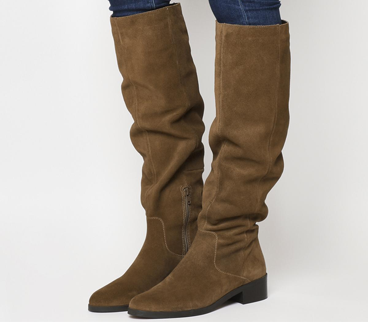 Office Kove Flat Slouch Suede Boots